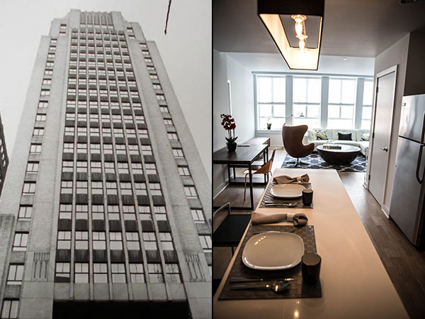 High Rise Apartment Inside at iconic center city luxury high-rise, health is top priority