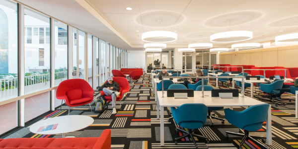 Floss Barber, Inc. collaborated with Penn and Mills + Schnoering Architects on interior design concepts and execution for the 15-month, $80 million renovation of Hill College House at the University of Pennsylvania.